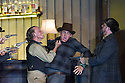 """London, UK. 30.09.2014. English National Opera's production of """"The Girl of the Golden West"""", by Giacomo Puccini, directed by Richard Jones, conducted by Keri-Lynn Wilson, opens at London Coliseum. Picture shows: Graham Clark (Nick - left). Photograph © Jane Hobson."""