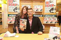 NO REPRO FEE. 8/10/2011.Eason, Ireland's leading retailer of books, stationery, magazines and lots more, hosted a book signing by comedian Des Bishop. Pictured at Eason O'Connell Street, Dublin is fan Eimear Kelly from Newcastle Co Dublin and Des Bishop who signed copies of his new book My Dad was nearly James Bond. Follow Eason on Twitter - @easons For further information, please contact: Aoife McDonald WHPR 087 4100777 Picture James Horan/Collins Photos