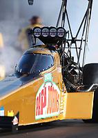 Apr 21, 2017; Baytown, TX, USA; NHRA top fuel driver Leah Pritchett during qualifying for the Springnationals at Royal Purple Raceway. Mandatory Credit: Mark J. Rebilas-USA TODAY Sports