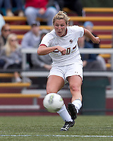 Boston College forward/midfielder Gibby Wagner (10) takes a shot. Boston College defeated North Carolina State,1-0, on Newton Campus Field, on October 23, 2011.