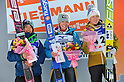 L to R Sara Takanashi (JPN), Hendrickson Sarah (USA), Iraschko Daniela (AUT),.MARCH 4, 2012 - Ski Jumping : FIS Ski Jumping World Cup Ladies in Zao, Individual the 13th Competiiton HS100 at Jumping Hills Zao,Yamagata ,Japan. (Photo by Jun Tsukida/AFLO SPORT) [0003].