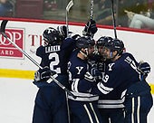 Adam Larkin (Yale - 2), Mike Doherty (Yale - 24), Henry Hart (Yale - 15), Ted Hart (Yale - 19) - The Harvard University Crimson tied the visiting Yale University Bulldogs 1-1 on Saturday, January 21, 2017, at the Bright-Landry Hockey Center in Boston, Massachusetts.