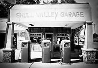 Skull Valley Gas Station - Arizona (BW)