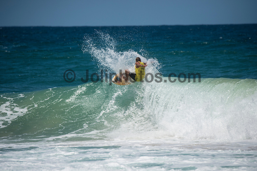 Burleigh Heads, Queensland, Australia. (Sunday, January 8, 2017) James Lewis (AUS) - With thousands of people packing out the headland at Burleigh Heads Joel Parkinson (AUS) took out the 2017 Burleigh Boardriders&rsquo; Single Fin Classic.<br /> <br /> The former world champion and current world number nine surfer battled against young up and comers and older Burleigh stalwarts for two day to win the event in front of a crowd of over 3000 people.<br /> <br /> &ldquo;This is such an honour, I can&rsquo;t believe how much fun this weekend has been,&rdquo; Parko said later.<br /> <br /> It is the first time Parkinson had entered the event, where competitors surf on single fin pre-1985 surfboards.<br /> <br /> There is no prize money offered, so surfers battle for the prestige of the event, which has now been running for 20 years.<br /> <br /> North End Boardrider Luke Hynd (AUS) came second in the event with Burleigh Boardrider James Lewis (AUS) coming in third.<br /> <br /> Up-and-coming Burleigh surfer Maddy Job (AUS) took out the junior division. Photo: joliphotos
