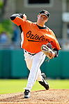 21 May 2007: Baltimore Orioles pitcher Bob McCrory in action against the Toronto Blue Jays at Doubleday Field during Baseball's Annual Hall of Fame Game in Cooperstown, NY. The Orioles defeated the Blue Jays 13-7 in front of a sellout crowd of 9,791 at the historical ballpark...Mandatory Credit: Ed Wolfstein Photo