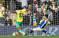 Norwich City's Cameron Jerome scores his sides first goal  <br /> <br /> Photographer David Shipman/CameraSport<br /> <br /> The EFL Sky Bet Championship - Norwich City v Blackburn Rovers - Saturday 11th March 2017 - Carrow Road - Norwich<br /> <br /> World Copyright &copy; 2017 CameraSport. All rights reserved. 43 Linden Ave. Countesthorpe. Leicester. England. LE8 5PG - Tel: +44 (0) 116 277 4147 - admin@camerasport.com - www.camerasport.com