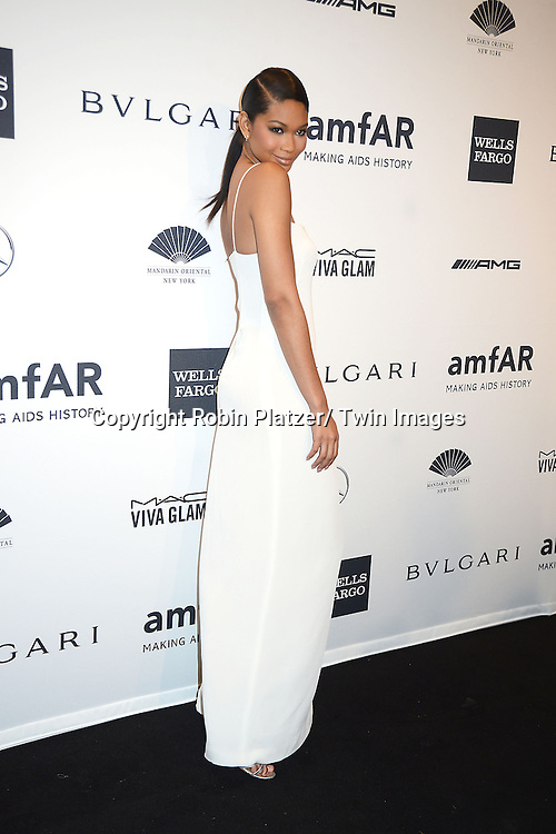 Chanel Iman attends the amfAR New York Gala on February 5, 2014 at Cipriani Wall Street in New York City.