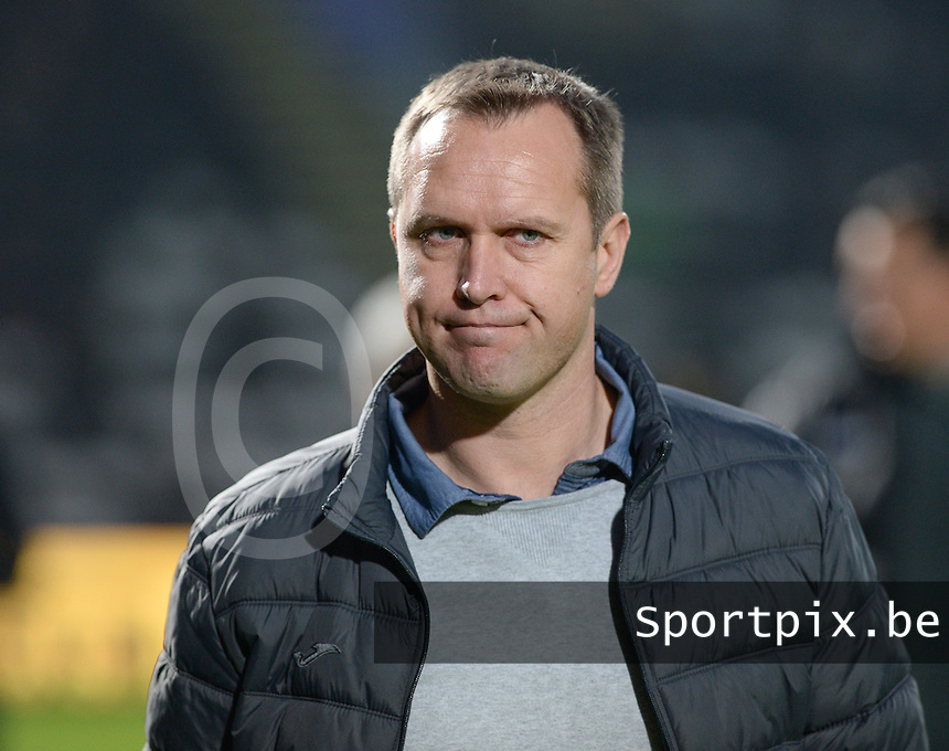 20161217 - ROESELARE , BELGIUM : Roeselare's Arnauld Mercier pictured during the Proximus League match of D1B between Roeselare and Cercle Brugge, in Roeselare, on Saturday 17 December 2016, on the day 20 of the Belgian soccer championship, division 1B. . SPORTPIX.BE | DAVID CATRY