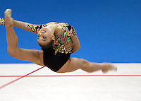 Oct 01, 2000; SYDNEY, AUSTRALIA:<br /> Alina Kabaeva of Russia performs with rope during rhythmic gymnastics final at 2000 Summer Olympics. Alina took Bronze medal in individual<br /> all around final.