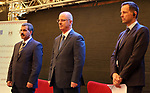Palestinian Prime Minister Rami Hamdallah attends Third annual conference of State Audit and Administrative Control Bureau, in the West Bank city of Ramallah on April 26, 2017. Photo by Prime Minister Office