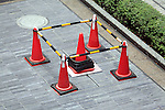 cones blocking of a small square repair