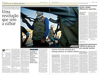 Tearsheet of &quot;Syria: the kurdish revolution&quot; published in Expresso