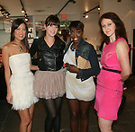 Lisa Yom, Designer Allison Parris, Estelle and Justine McCarthy attend Save the Eggs benefit Cocktails 2010 hosted by Tia Walker, Peggie Walker, BoConcept Owner Shaokao Cheng & Emma Snowdon-Jones at BoConcept New York, 5/17/10