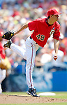 18 June 2006: Mike O'Connor, pitcher for the Washington Nationals, in action against the New York Yankees at RFK Stadium, in Washington, DC. The Nationals defeated the Yankees 3-2 in the third game of the interleague series...Mandatory Photo Credit: Ed Wolfstein Photo...