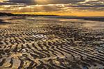 Sunset at Linell's Landing Beach in Brewster, Cape Cod, Massachusetts, USA
