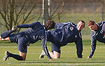 Kris Boyd, Andrius Velicka and Christian Dailly