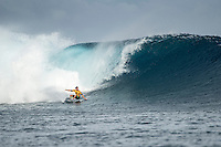 Namotu Island, Fiji (Saturday, June 13, 2015) Adriano de Souza (BRA) - Action at stop No. 5 on the 2015 Samsung Galaxy WSL Championship Tour (CT), the Fiji Pro, continued today with the world&rsquo;s best surfers battling to avoid early elimination. Competition ran through the opening five heats of Round 2 at Cloudbreak before being called off in deteriorating conditions. <br /> <br /> Photo: joliphotos.com