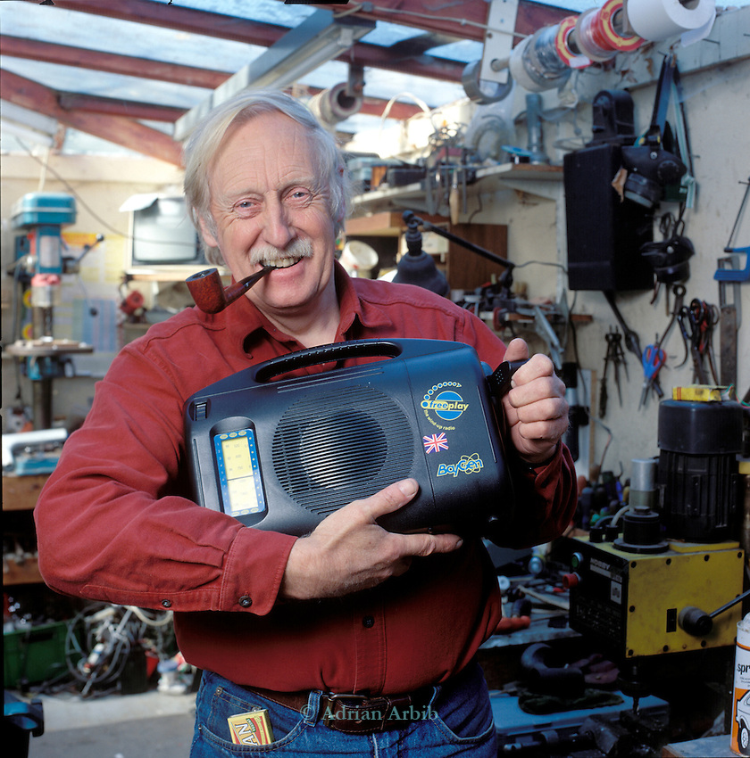 Trevor Bayliss inventor of the wind up radio