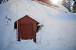 A vacation home is buried under record early season snowfall in Soda Springs, Calif., January 6, 2011. California has already received 80% of its normal annual precipitation in the first two months of a rainy season that lasts another four months..CREDIT: Max Whittaker for The Wall Street Journal.CALWATER