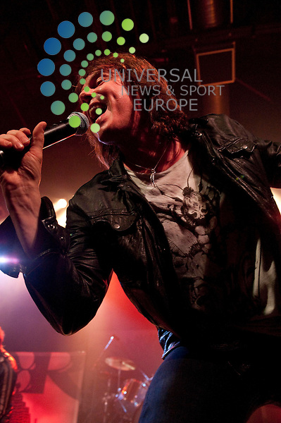 Lead vocalist  Joey Tempest of Swedish hard rock band Europe as they play the O2 ABC in Glasgow...O2 ABC, Sauchiehall Street, Glasgow, G21 3UW. Picture: Euan Anderson/Universal News And Sport (Scotland) 28th February 2010.