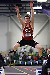 11 MAR 2011: Ethan Miller of Central College long jumps during the the Division III Men's and Women's Indoor Track and Field Championships held at the Capital Center Fieldhouse on the Capital University campus in Columbus, OH.  Miller finished second in the event with a jump of 7.23 meters (23'8.75&quot;). Jay LaPrete/NCAA Photos