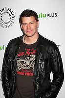 "LOS ANGELES - MAR 8:  David Boreanaz arrives at the ""Bones"" Event at PaleyFest 2012 at the Saban Theater on March 8, 2012 in Los Angeles, CA"