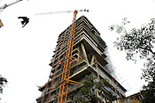 The multi-storeyed house of the Chairman of Reliance Petroleum, Mukesh Ambani is under construction in Altamount Road in Bombay. The house is expected to cost 12 billion Kronas.