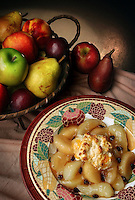 Apple and pear cobbler.