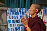 Manandhab Ceremony celebrated after the Holi Festival at the Monkey Temple, Kathmandu Nepal