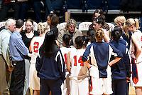 SAN ANTONIO, TX - NOVEMBER 23, 2007: The University of New Orleans Privateers vs. The University of Texas at San Antonio Roadrunners Women's Basketball at the UTSA Convocation Center. (Photo by Jeff Huehn)