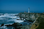 CA: California Coast, Point Arena lighthouse, 2005 .Image: captarena202.Photo Copyright: Lee Foster, lee@fostertravel.com, www.fostertravel.com, (510) 549-2202..