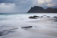 Utakleiv beach, Vestvagoy, Lofoten Islands, Norway
