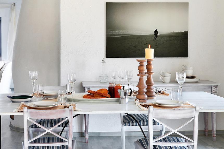 contemporary dining area