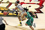 03 APR 2012: Odyssey Sims (0) of Baylor University dribbles up court as Skylar Diggins (4) of the University of Notre Dame chases her during the Division I Women's Basketball Championship held at the Pepsi Center in Denver, CO. Matt Marriott/NCAA Photos
