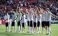 FUSSBALL   1. BUNDESLIGA  SAISON 2011/2012   4. Spieltag 1. FC Kaiserslautern - FC Bayern Muenchen         27.08.2011 JUBEL nach dem SIEG FC Bayern Muenchen