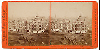 BNPS.co.uk (01202 558833)<br /> Pic: Bonhams/BNPS<br /> <br /> Grand Hotel, San Francisco.<br /> <br /> A stunning collection of photos of San Francisco in the 1860s have been unearthed after 150 years.<br /> <br /> The fascinating images show the distinctive street scenes of the city 70 years before the iconic Golden Gate Bridge became its most celebrated landmark and 50 years before the infamous Alcatraz prison was built.<br /> <br /> Included in the collection of 247 images are photos of the Golden Gate, Alcatraz, Russian Hill, the Waterfront and Woodward's Gardens.<br /> <br /> The city which is universally known for its treacherously steep hills and spectacular scenery was captured in all its glory by American photographer Carleton E. Watkins.
