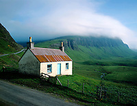 Cottage at Gribun, island of Mull, Inner Hebrides, Scotland.