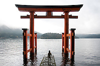 Shinto Torii Gate, Lake Hakone Japan
