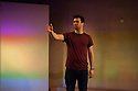 London, UK. 04.02.2015. TRUE BRITS, by Vinay Patel, starring David Mumeni, as Rahul, opens at Vault, as part of the Vault Festival 2015. Photograph © Jane Hobson.