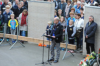 ALGEMEEN: JOURE: 04-05-2015, Dodenherdenking, Toespraak tijdens de Kranslegging in Park Heremastate, ©foto Martin de Jong