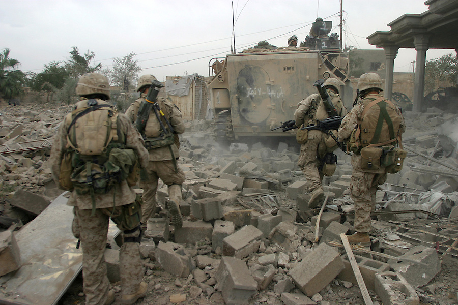 The Marines of Kilo Company 3rd Battalion 1st Marines fight through their piece of Fallujah during the Nov. 2004 assault on the city.