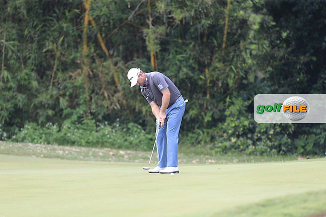 Graeme McDowell (NIR) on the 12th green during Round 1 of the 2015 UBS Hong Kong Open at the Hong Kong Golf Club in The Netherlands on 2/10/15.<br /> Picture: Thos Caffrey   Golffile