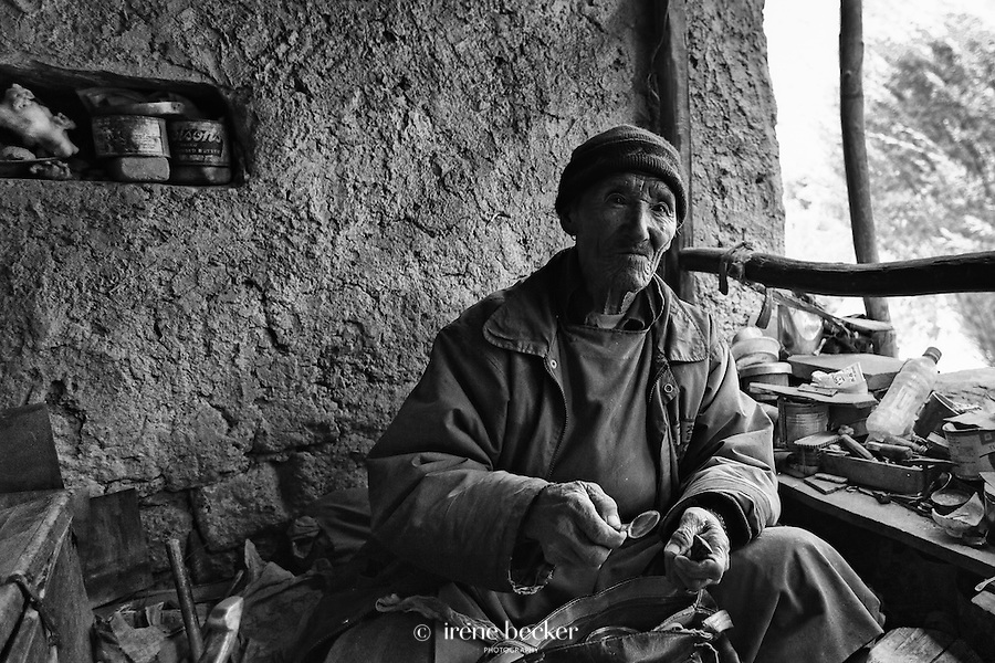 Chilling  Village, Hemis National Park,  Jammu and Kashmir, India. It is the only village in Ladakh that has provided metal works such as copper, silver , iron, tin and bronze to the Leh market through the centuries.