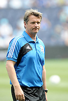 San Jose Head Coach Frank Yallop... Sporting Kansas City defeated San Jose Earthquakes 2-1 at LIVESTRONG Sporting Park, Kansas City, Kansas.