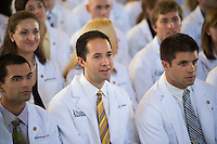 Alejandro Castro, from left, Michael Capata, Adam Burgess. Class of 2016 White Coat Ceremony.