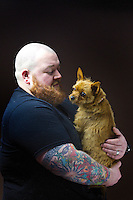Dez Johnston, 31, theology student and security guard, from Lenzie.<br /> <br /> 'I describe my hair as highland auburn but it only appears in my beard.'  <br /> <br /> 'Strangely, no one in my family has ginger hair.  I grew up in the highlands in Speyside so maybe it came from the whisky? It's in the water!' <br /> <br /> 'A few mates have it, and our dog Pixie, the destroyer&hellip; I wanted a dog to go with my beard! I only noticed it recently when I actually grew the beard.'  <br /> <br /> During summer I work at festivals and it comes up bright in the sun. Like a see-you-jimmy hat. People comment You have a cracking beard mate!<br /> <br /> 'I&rsquo;ve never really had a problem in life with people insulting me, I can get quite fiery.'