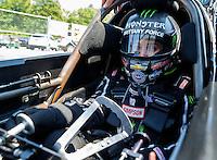 May 14, 2016; Commerce, GA, USA; NHRA top fuel driver Brittany Force during qualifying for the Southern Nationals at Atlanta Dragway. Mandatory Credit: Mark J. Rebilas-USA TODAY Sports
