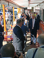 PHILADELPHIA, PA - SEPTEMBER 22: Donald Trump seen before entering Geno's Steaks in Philadelphia, Pennsylvania on September 22, 2016. Credit: Star Shooter/MediaPunch