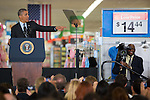 President Obama visits Mountain View Walmart store