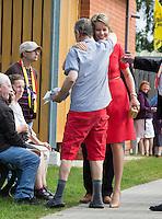 Queen Mathilde of Belgium visits the Borgerstein association - Belgium